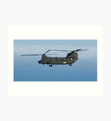 Chinook in flight Art Print