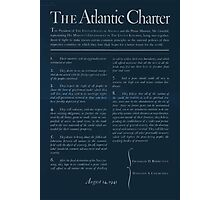 United States Department of Agriculture Poster 0166 The Atlantic Charter Franklin Delano Roosevelt Winston Churchill August 14 1941 Inverted Photographic Print