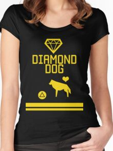 DD - Press △ to love dog Women's Fitted Scoop T-Shirt