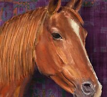 Brown Horse Painting  by ibadishi