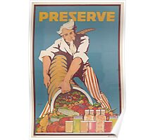 United States Department of Agriculture Poster 0170 Preserve Food Poster