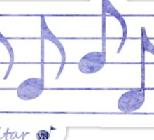 GUITAR - Words in Music - Purple -  V-Note Creations Sticker