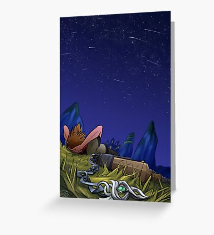 Under the Meteor Shower Greeting Card