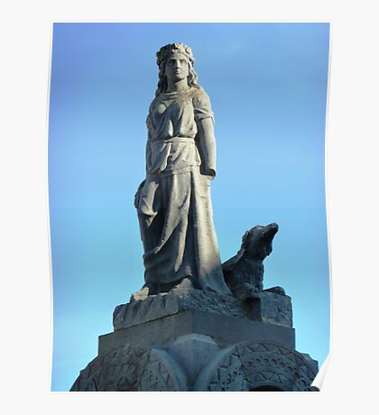 Maid of Erin Monument, Kilrush, Ireland. Poster