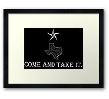 Come and Take it. Framed Print