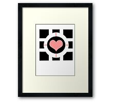Weighted companion cube Framed Print