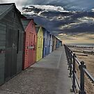 Mundesley Beach Huts by Avril Harris