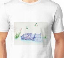 Happy patchwork hippo Unisex T-Shirt