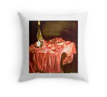 Strawberries and Tuscan Wine Throw Pillow