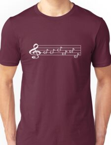 GUITAR -Words in Music - V-Note Creations (white text) Unisex T-Shirt