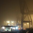 Felixstowe Docks at Night by Peter Barrett