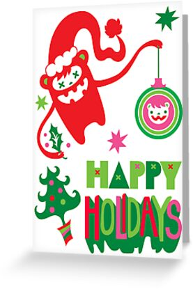 Monster Holidays card  by Andi Bird