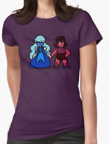 Pixel Ruby & Sapphire Womens Fitted T-Shirt