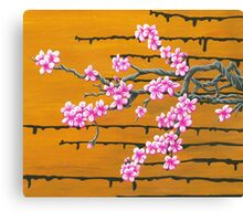 October Cherry Blossoms Canvas Print