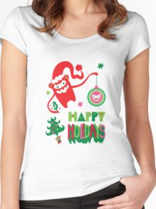 Monster Holidays Women's Fitted Scoop T-Shirt