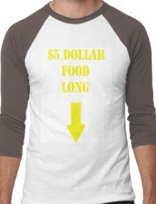 $5 Dollar FoodLong Men's Baseball ¾ T-Shirt