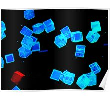 Floaty cubes Poster