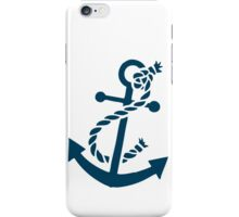 Navy Blue Nautical Boat Anchor Illustration iPhone Case/Skin