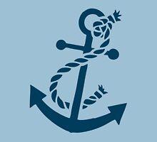 Navy Blue Nautical Boat Anchor Illustration Unisex T-Shirt