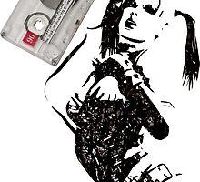 Harley Quinn Cassette Tape Art by tigerchurch123