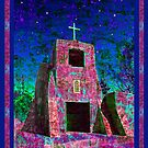 Night Magic, San Miguel Mission by Kurt  Van Wagner