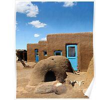Tres Casitas, Taos Pueblo Poster