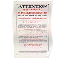 United States Department of Agriculture Poster 0260 Attention Negro Farmers Plant a Garden This Year Poster