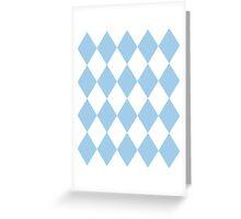 Light Blue and White Diamonds Greeting Card