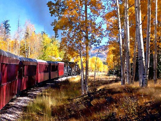Fall train ride by Kurt  Van Wagner