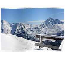 Snowtime in the Austrian Mountains Poster