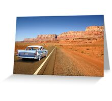 Open Road Cruising  Greeting Card