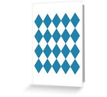 Blue and White Diamonds Greeting Card