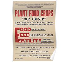 United States Department of Agriculture Poster 0068 Plant Food Crops Food Feed Fertility Poster