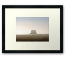 Loan Tree in Early Morning Mist - Country Victoria Framed Print