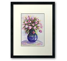 Tulip bouquet Framed Print