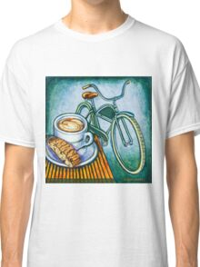 Green Electra Delivery Bicycle Coffee and biscotti Classic T-Shirt