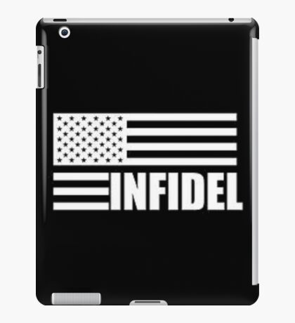 American Infidel (Black) iPad Case/Skin