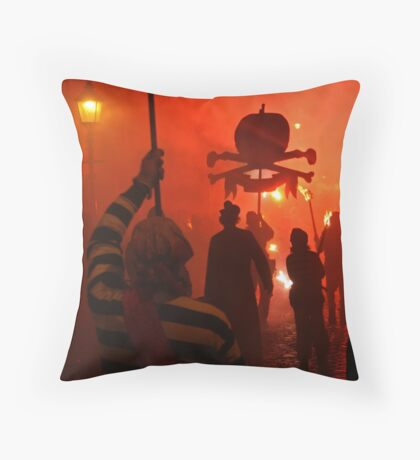 Red Skull (Lewes Bonfire 2010) Throw Pillow