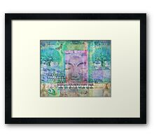Inspiration Buddha quote about letting go of the past Framed Print