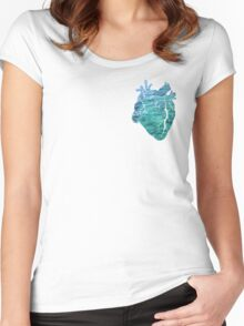 Ocean Heart Women's Fitted Scoop T-Shirt