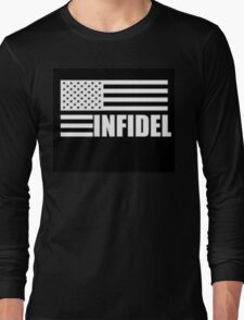 American Infidel (Black) Long Sleeve T-Shirt