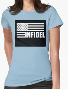 American Infidel (Black) Womens Fitted T-Shirt