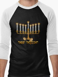 Golden Hanukkah Men's Baseball ¾ T-Shirt