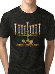 Golden Hanukkah Tri-blend T-Shirt