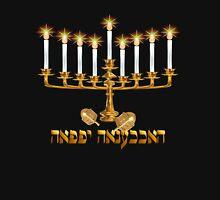 Golden Hanukkah Long Sleeve T-Shirt