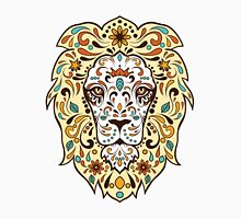 Colorful Lion Head Sugar Skull Illustration Unisex T-Shirt
