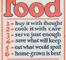 United States Department of Agriculture Poster 0266 Food Don't Waste it by wetdryvac