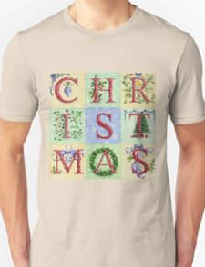 Decorative Christmas Letters Unisex T-Shirt