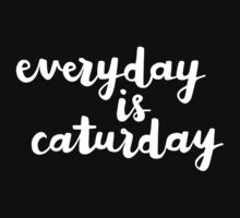 Caturday | Hand Lettered I Kids Clothes