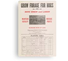 United States Department of Agriculture Poster 0058 Grow Forage for Hogs Save Grain and Labor Metal Print